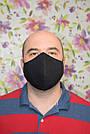 """2 шт маска защитная черная """"Пара"""" трехслойная многоразовая. Мужская и женская, фото 3"""
