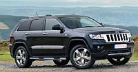 Пороги боковые (подножки-трубы с накладками) Jeep Grand Cherokee 2010-2013 (Ø60)