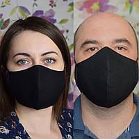 """2 шт маска защитная черная """"Пара"""" трехслойная многоразовая. Мужская и женская. Отправка в день заказа"""