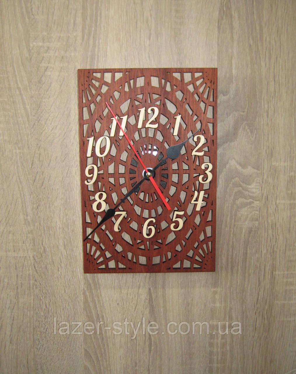 """Авторские часы """" Паутинка коричневая"""""""