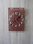 """Авторские часы """" Паутинка коричневая"""", фото 2"""