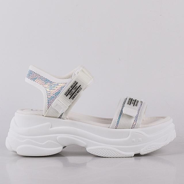 Стильные белые  женские Босоножки Lonza 6658-2 WHITE лето 2020