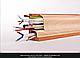 Плинтус пластиковый ТЕКО Люкс 0060 Бук с кабель каналом, широкий по полу, мягкие края, фото 6