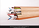 Плинтус пластиковый ТЕКО Люкс 0011 Груша медовая с кабель каналом, широкий по полу, мягкие края, фото 7