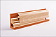 Плинтус пластиковый ТЕКО Люкс 0007 Орех кремовый с кабель каналом, широкий по полу, мягкие края, фото 5