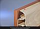 Плинтус пластиковый ТЕКО Люкс 0004 Орех темный с кабель каналом, широкий по полу, мягкие края, фото 3