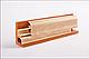 Плинтус пластиковый ТЕКО Люкс 0004 Орех темный с кабель каналом, широкий по полу, мягкие края, фото 5