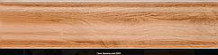 Плінтус пластиковий ТЕКО Люкс 0005 Горіх бразильський з кабель каналом, широкий по підлозі, м'які краю