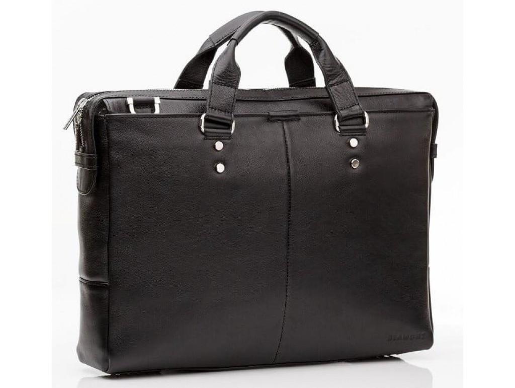 Деловая горизонтальная мужская сумка Blamont из натуральной кожи в коричневом цвете Bn025A