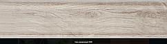 Плінтус пластиковий ТЕКО Люкс 0006 Горіх мармур з кабель каналом, широкий по підлозі, м'які краю