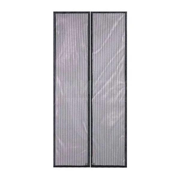 Антимоскітна сітка штора на магнітах Magic Mesh на двері 210 см на 100 см Колір чорний