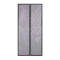 Антимоскитная сетка штора на магнитах Magic Mesh на двери 210 см на 100 см Цвет черный
