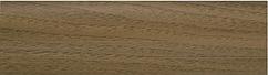 Плінтус пластиковий ТЕКО Люкс 0008 Горіх шервуд з кабель каналом, широкий по підлозі, м'які краю