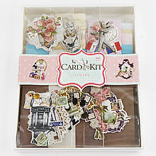 Набор скрапбукинга для изготовления 6-ти открыток с конвертами 3321648-23/24 (24*18,5 см)