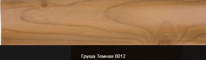 Плинтус пластиковый ТЕКО Люкс 0012 Груша темная с кабель каналом, широкий по полу, мягкие края