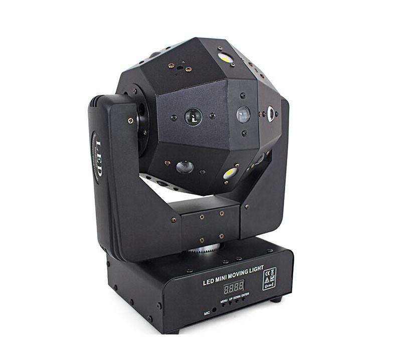 Диско світлова голова 3в1 Moving head RGBW, лазер, стробоскоп