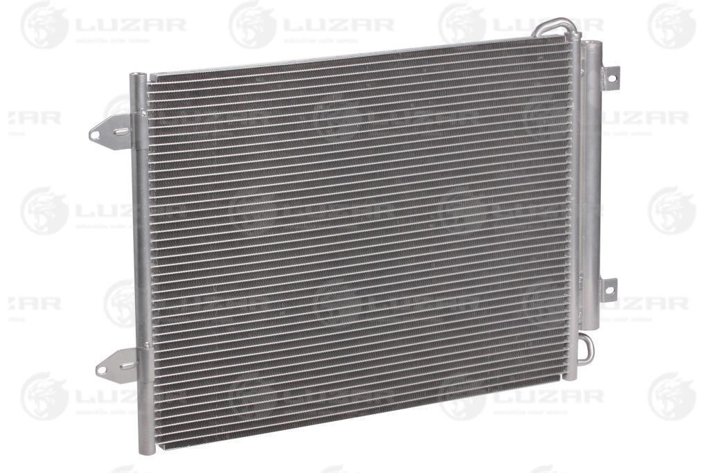 Радиатор кондиционера с ресивером VW Passat B6 (05-) (фланцы рядом с ресивером) LRAC 181C Luzar 3C0820411C