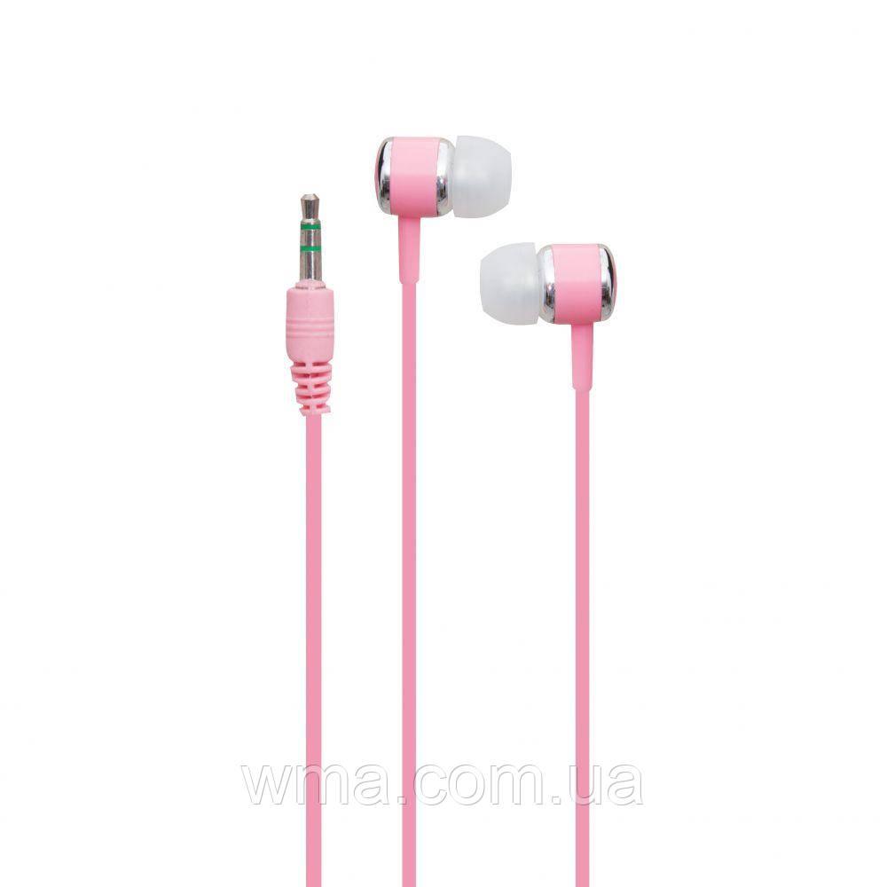 Проводные наушники для телефона i-Koson i-680 MP3 Цвет Розовый
