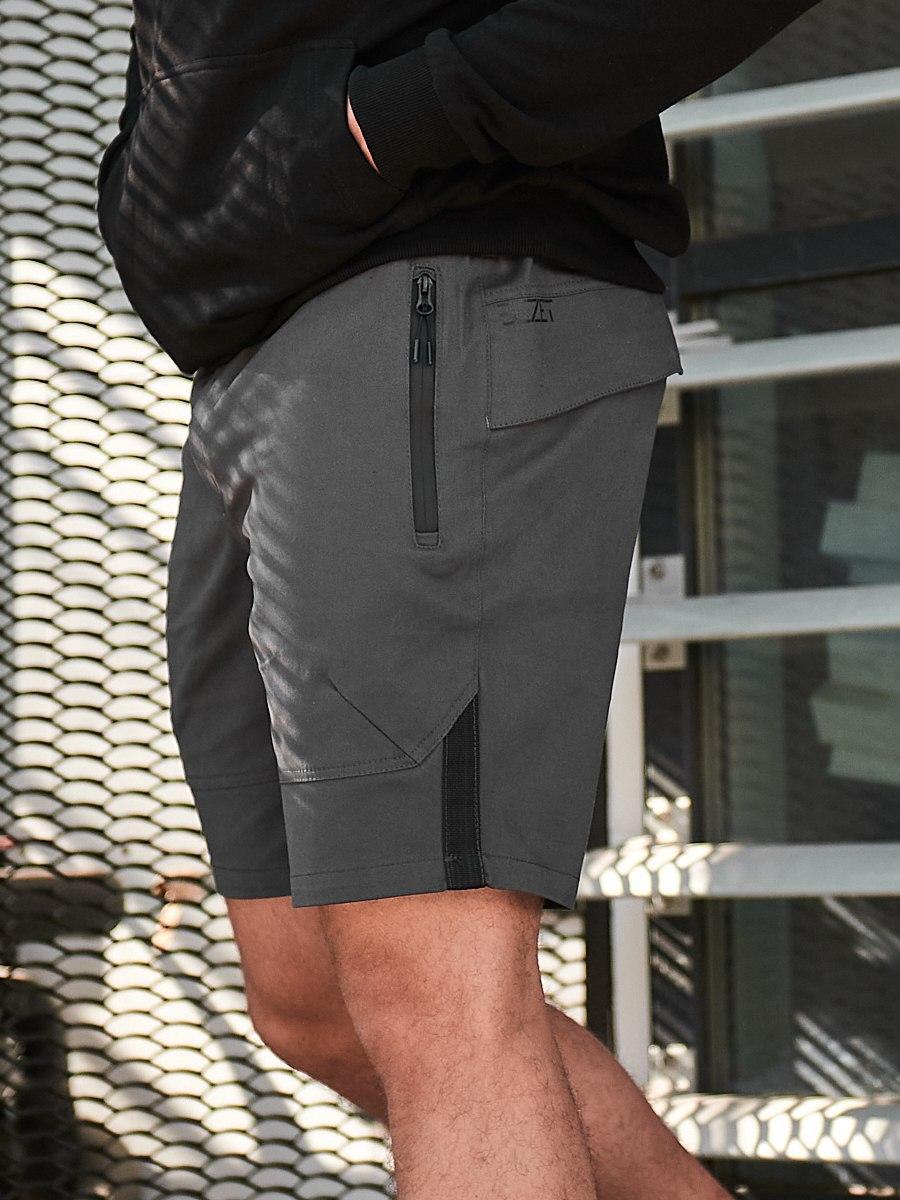 Мужские повседневные шорты BEZET Battle dark iron '19, серые мужские карго шорты, серые карго шорты