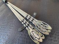 Набор шампуров с ручками в виде марок авто, в кожаном колчане - оригинальный подарок автолюбителю