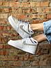 Женские кроссовки Nike Air Force 1 Low Reflective White (найк аир форс, белые/рефлективные ) - Фото