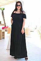 Женское платье в пол Батал, фото 1