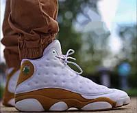 Баскетбольні кросівки Nike Air Jordan 13 Retro, White Gold. Розмір 45