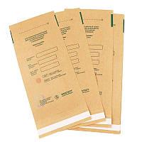 Крафт пакеты для стерилизации 100х200 Медтест, для паровой, воздушной, этиленоксидной 100 шт