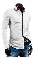 Белая мужская рубашка с длинным рукавом 44р., фото 1