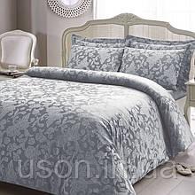 Комплект  постельного белья  жаккард 200*220 TM  Tivolyo Home AMELFI GRI