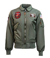 Бомбер Top Gun CWU-45 Flight Jacket with patches TGJ1900 (Olive), фото 1