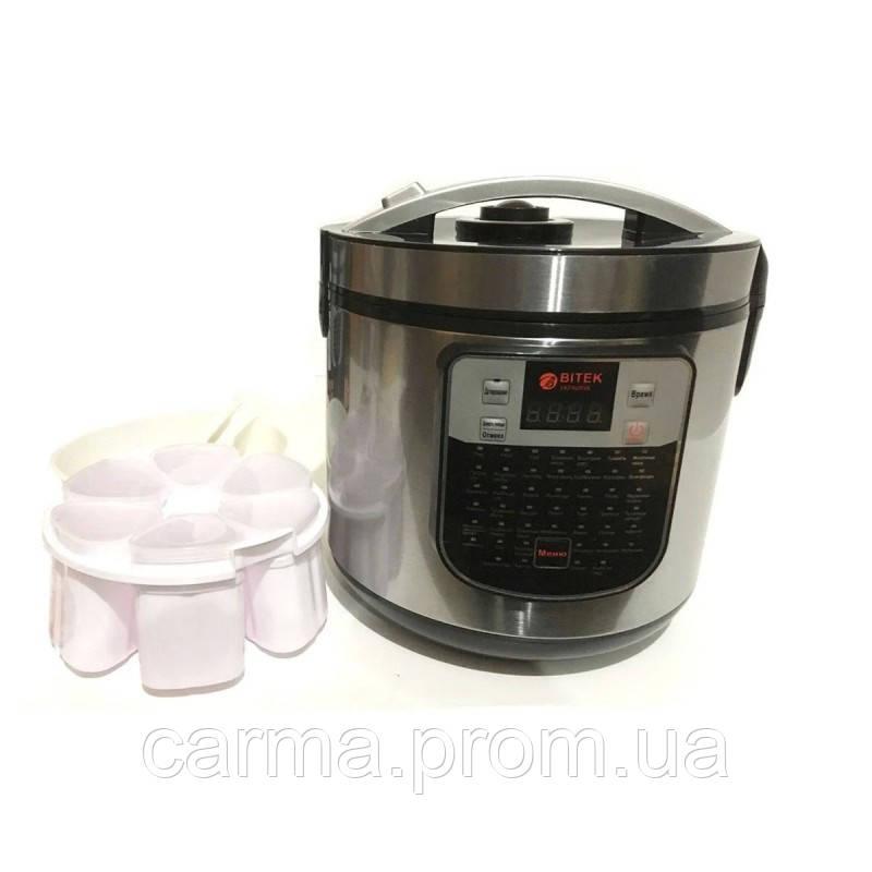 Мультиварка с йогуртницей BITEK BT-00045 Серебристая