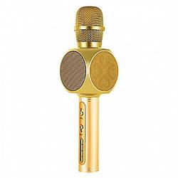 Беспроводная портативная колонка + караоке микрофон 2 в 1 SU-YOSD YS-63 Золотой