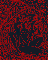 """А3 """"Ніжність (чорний) схема для вишивки бісером, фото 1"""