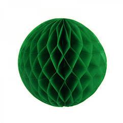 Бумажный шар соты 20 см (зеленый)