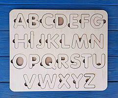 Алфавит, азбука, пазл английский деревянный