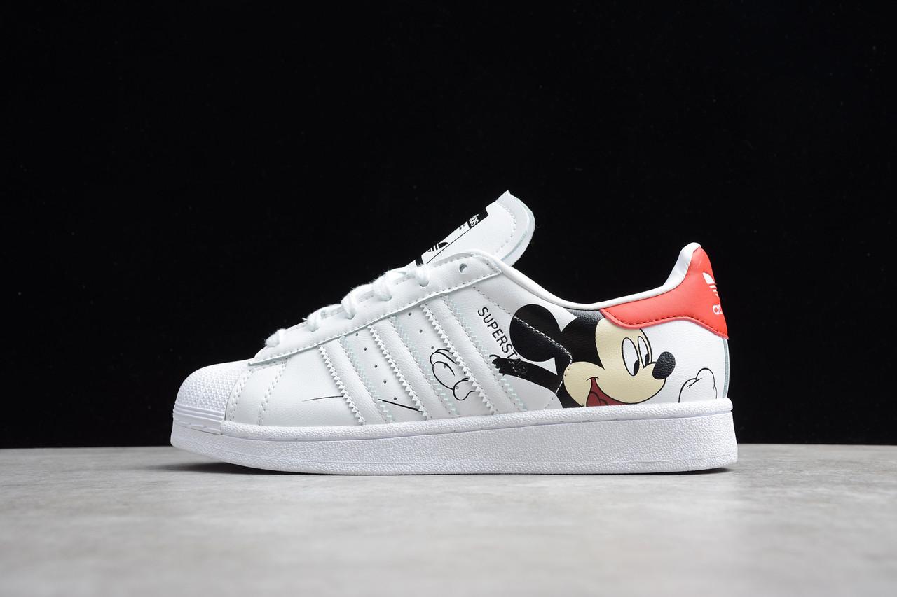 "Кроссовки Adidas Superstar Mickey Mouse ""Белые"""
