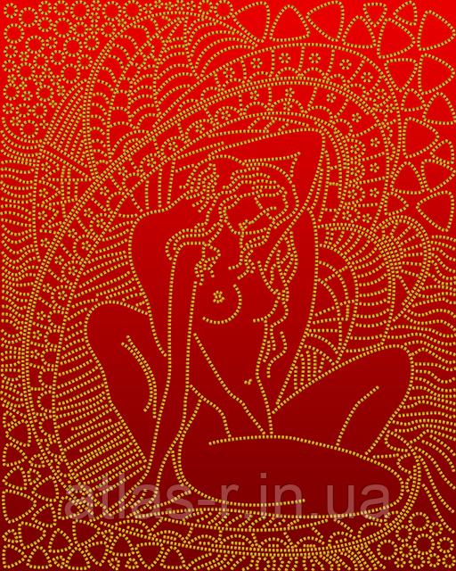 """А3 """"Нежность (красный)"""" схема для вышивки бисером"""