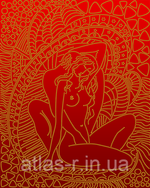 """А3 """"Ніжність (червоний) схема для вишивки бісером"""