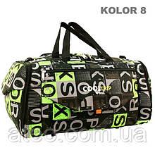 Дорожня спортивна сумка RGL 25C 74л чорний з зеленим