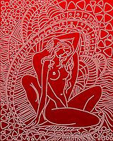 """А3 """"Ніжність (червоний) схема для вишивки бісером, фото 1"""