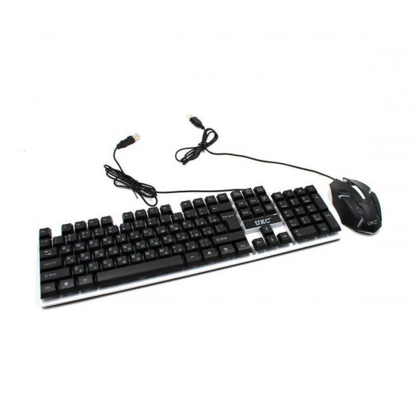Проводная клавиатура Led и мышь Ukc M-416 (5559)