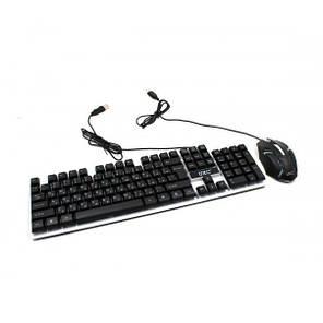Проводная клавиатура Led и мышь Ukc M-416 (5559), фото 2