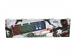 Проводная клавиатура Led и мышь Ukc M-416 (5559), фото 3