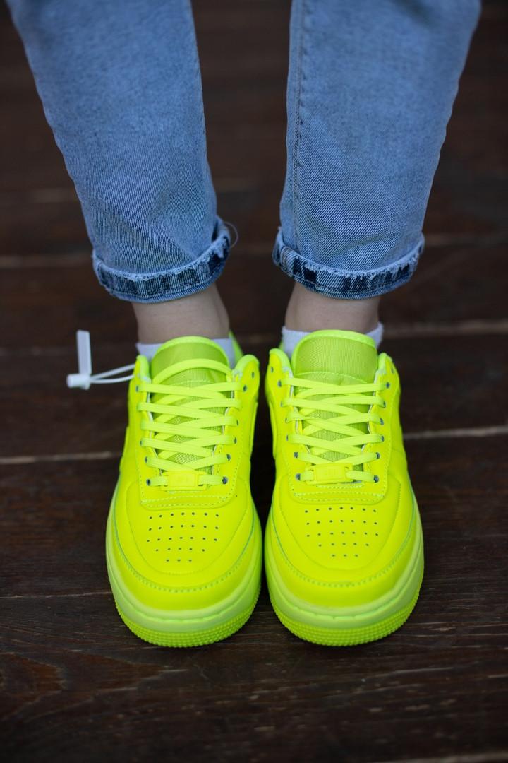 Кроссовки женские Nike AIR.Стильные кроссовки желтого цвета.