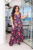 """Платье для пышных дам """"Цветы"""" Dress Code, фото 1"""
