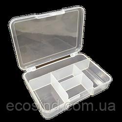 14х9,5х3см на 5 ячеек пластиковая тара (контейнер, органайзер) для рукоделия и шитья (657-Л-0697)