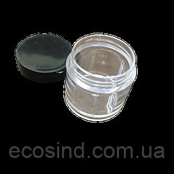 Ø 2,5см Баночка пластиковая 3см (контейнер, органайзер) для рукоделия и шитья (657-Л-0698)