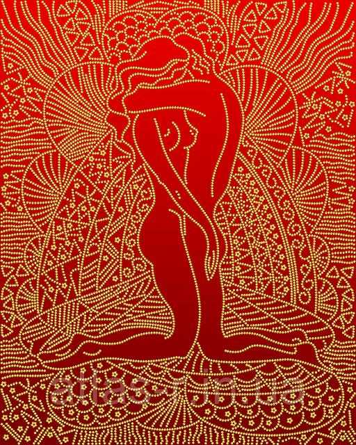 """А3 """"Закохані (червоний) схема для вишивки бісером"""