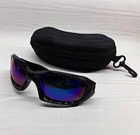 Спортивные мужские очки Синие с зеркальной линзой, фото 1